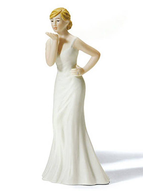 Bride Blowing Kisses Cake Top