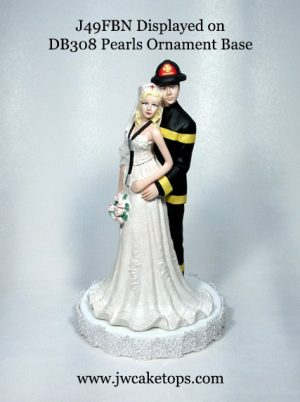 Firefighter Cake Top on a Base